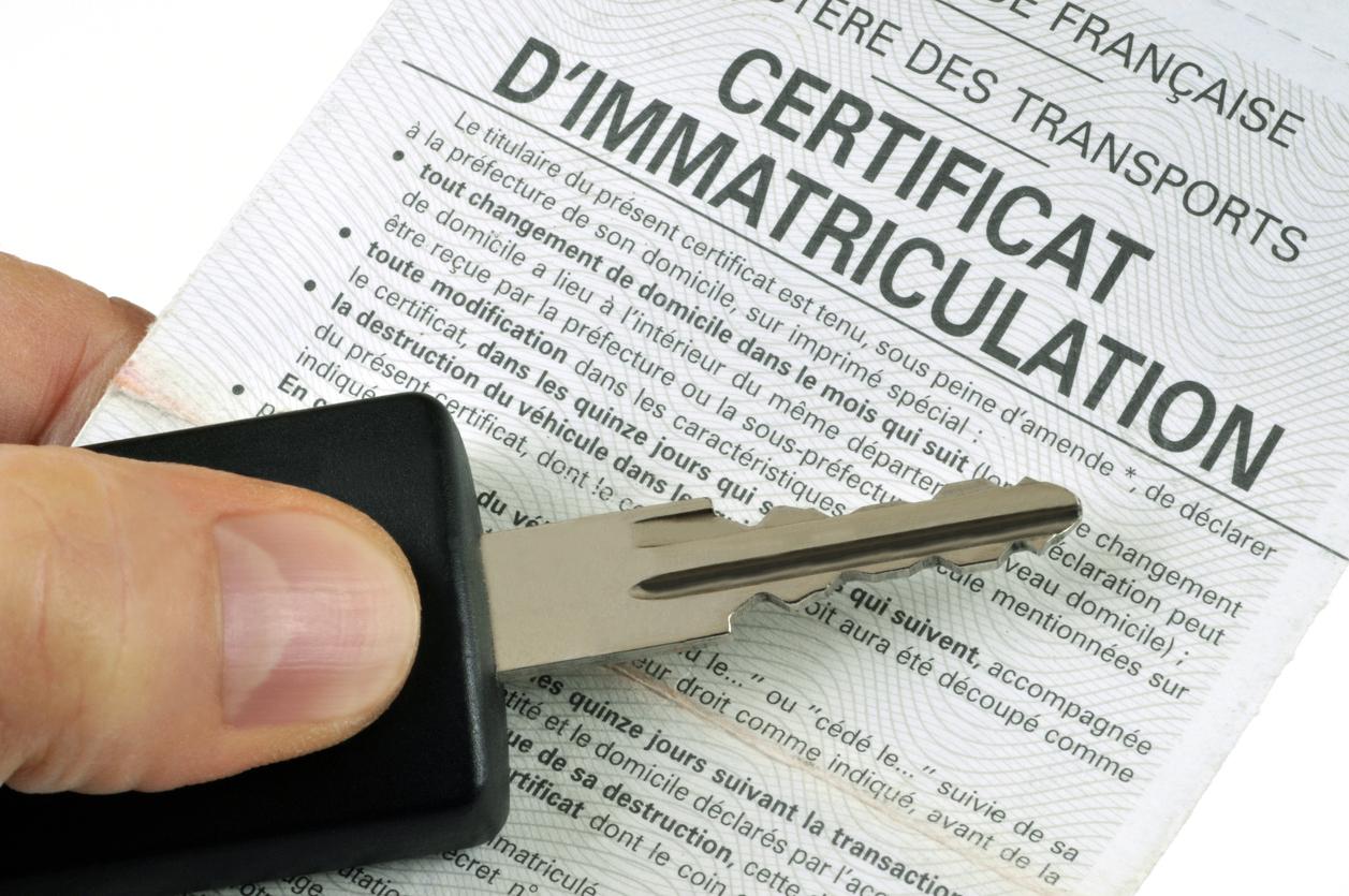 Le certificat d'immatriculation obligatoire
